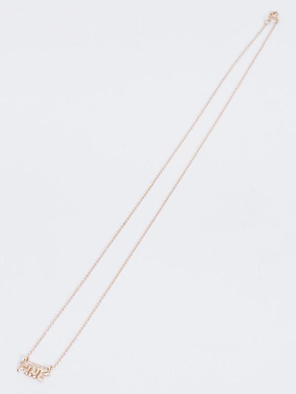 WINDEN x J. HANNAH FINE NECKLACE / 14k