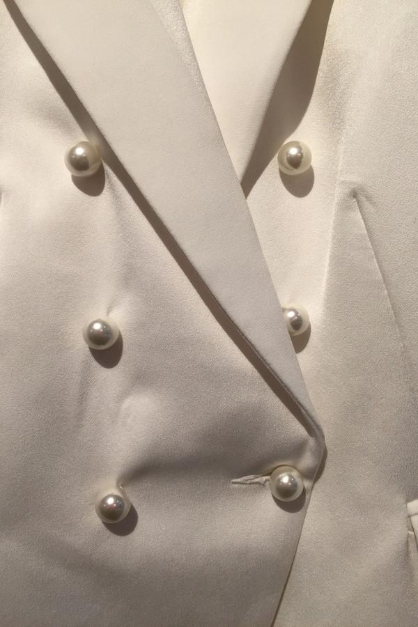 Camilla and Marc 'Past Love' Satin crepe blazer