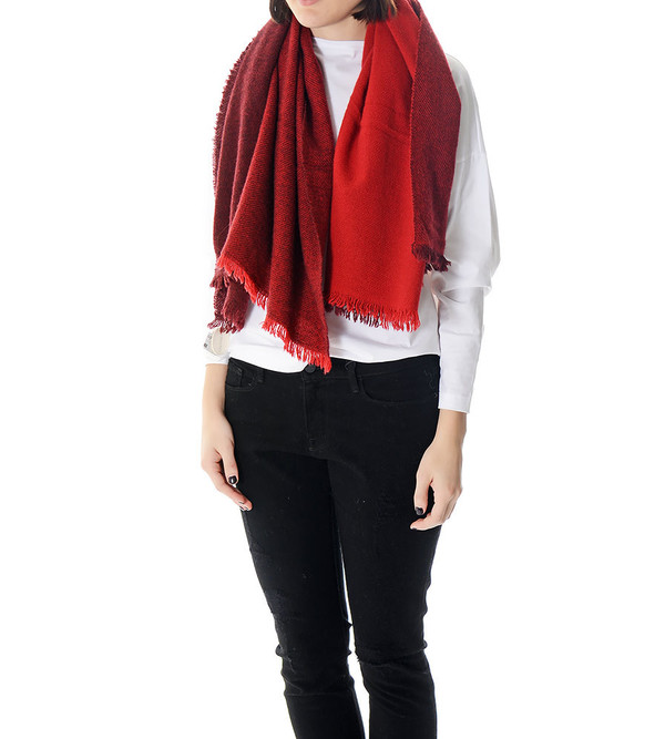 destin Red Gretta Quadra Scarf