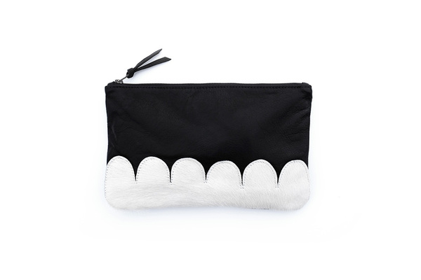 Primecut WHITE SCALLOP CLUTCH