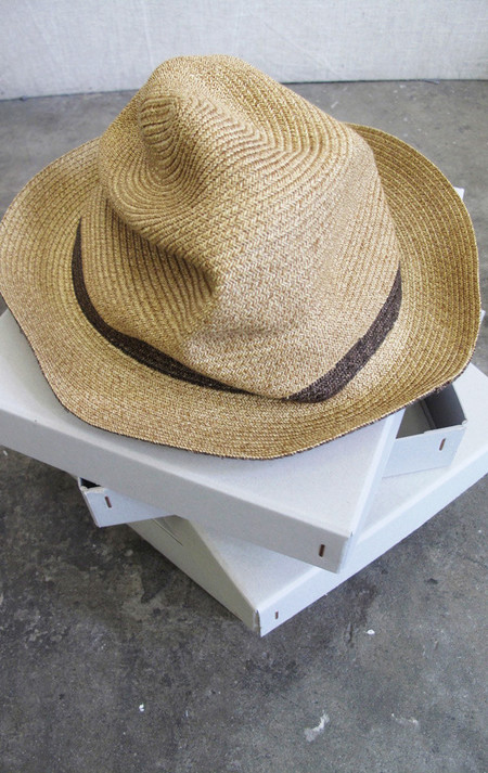 Mature-Ha Natural Hat with Painted Brown Band