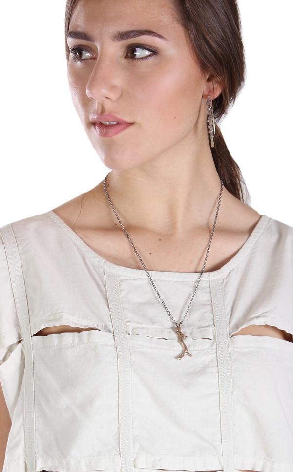 Sarah Dunn Coral Bronze Pendent Necklace