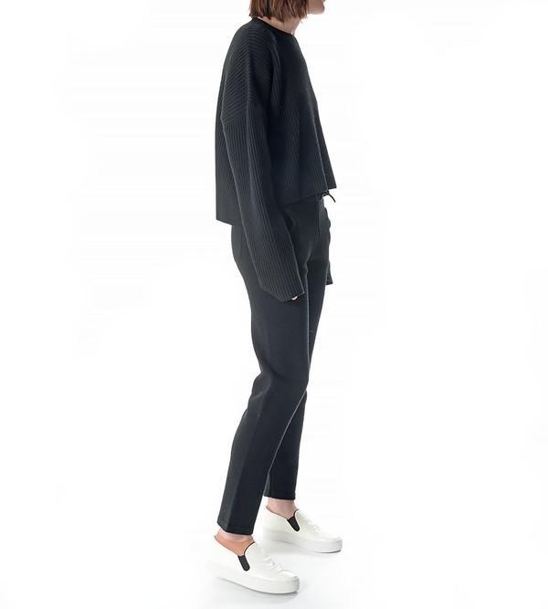 Charlie May Black Ribbed Pullover