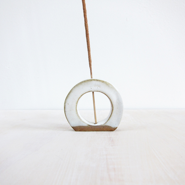 stoneware incense holder