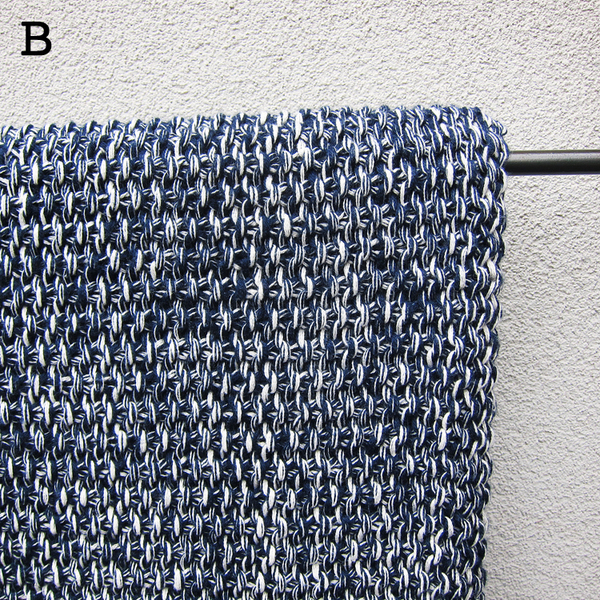 knitted cotton throw