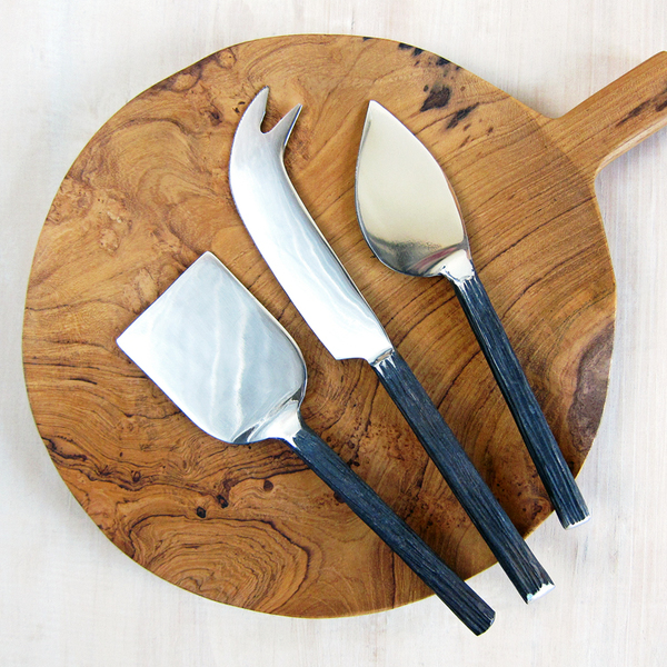 bark-handled cheese knives