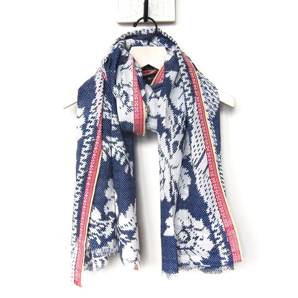 Épice blue floral scarf