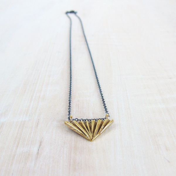 Satomi Studio trigon pendant necklace