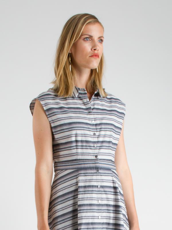 Swords-Smith Heather Blues Shirtdress
