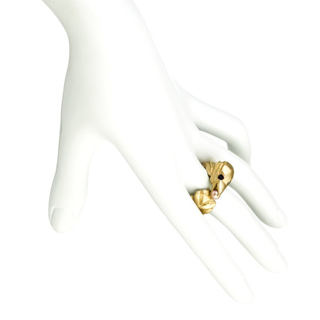 Natalie Frigo Bird With Treasure Ring