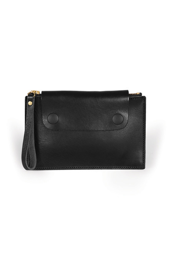 Sylvan Park Leather Bidwell Mini Zip Pouch - Black