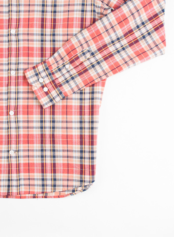 Men's Norse Projects Anton Madras Shirt Blood Orange
