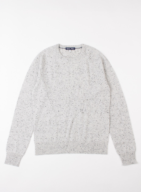 Alex Mill Cashmere Donegal Sweater Silver