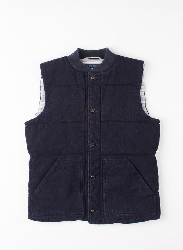 Alex Mill Dobber Puffer Vest Indigo