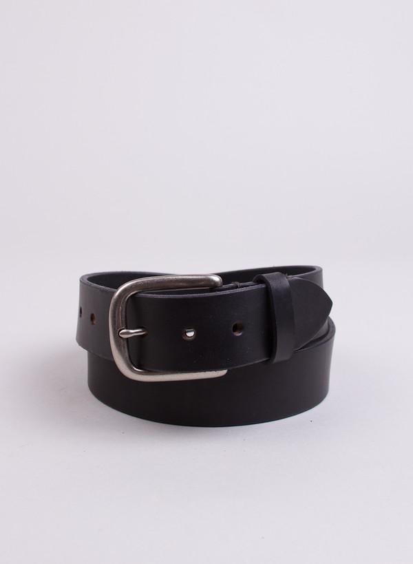 Men's 3Sixteen Heavyweight Stitched Belt Black