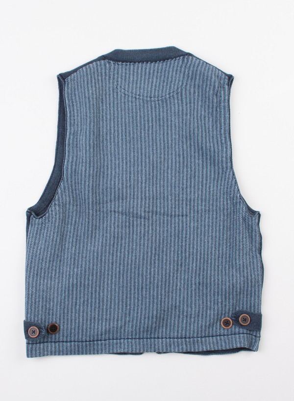 Men's Alex Mill Indigo Cotton Sweater Vest Indigo