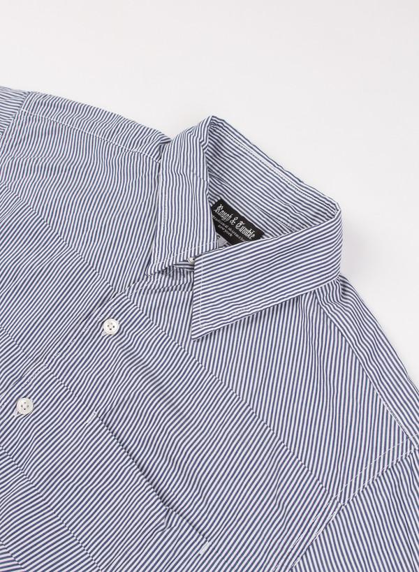 Men's Rough & Tumble Jerry Shirt Navy/White Thin Stripe