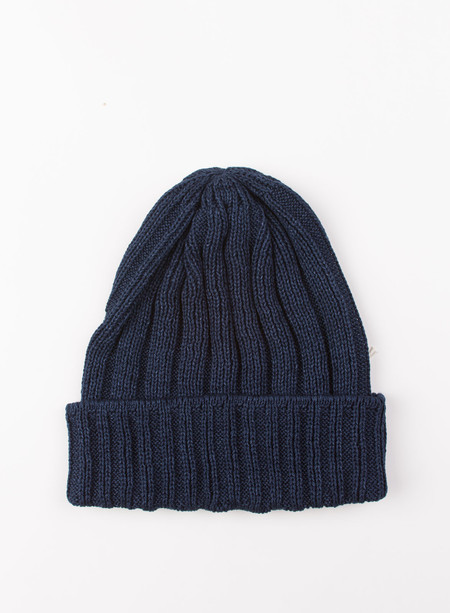 The Hill-Side Knit Cap Indigo Pima Cotton