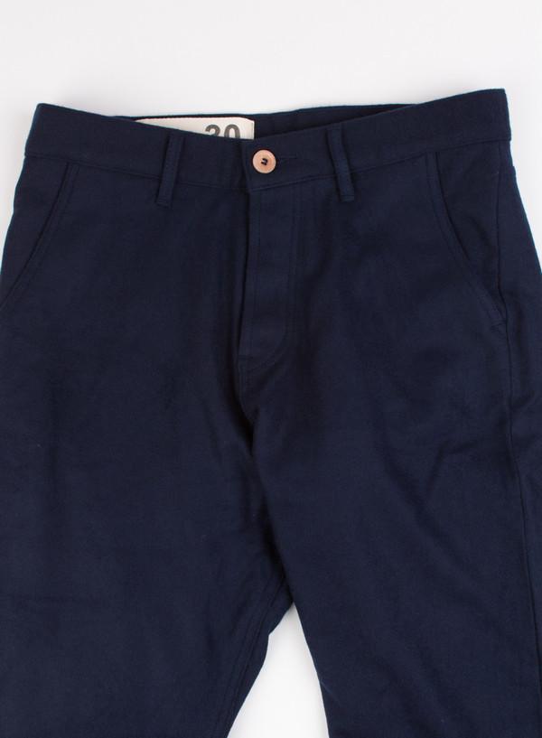 Men's Bleu De Paname Pant Loisir Wool Marine