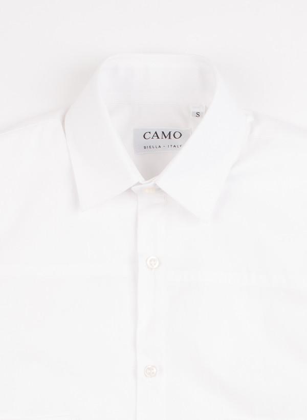 Men's Camo Pudong Short Sleeve Popeline Shirt White