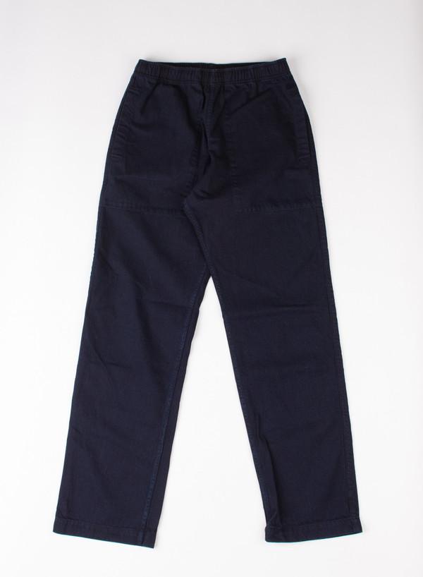 Men's MHL Margaret Howell Relaxed Track Trouser Yarn Dye Indigo