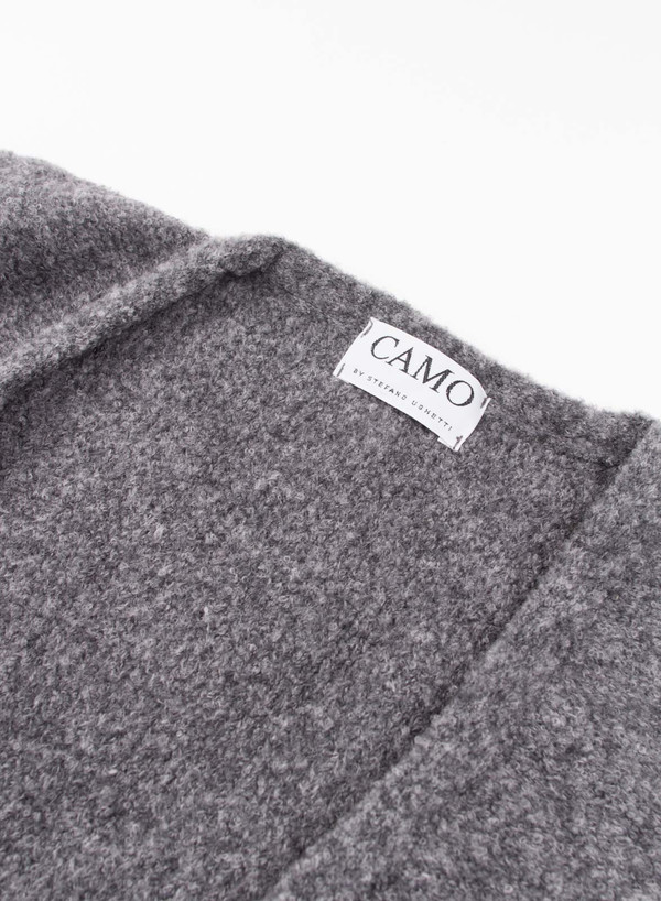 Mens Camo Sale Button Cardigan Gray