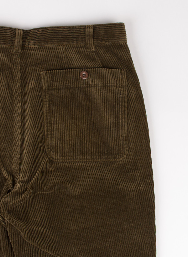 Men's MHL Margaret Howell Slim Chino Heavy Corduroy Army Green