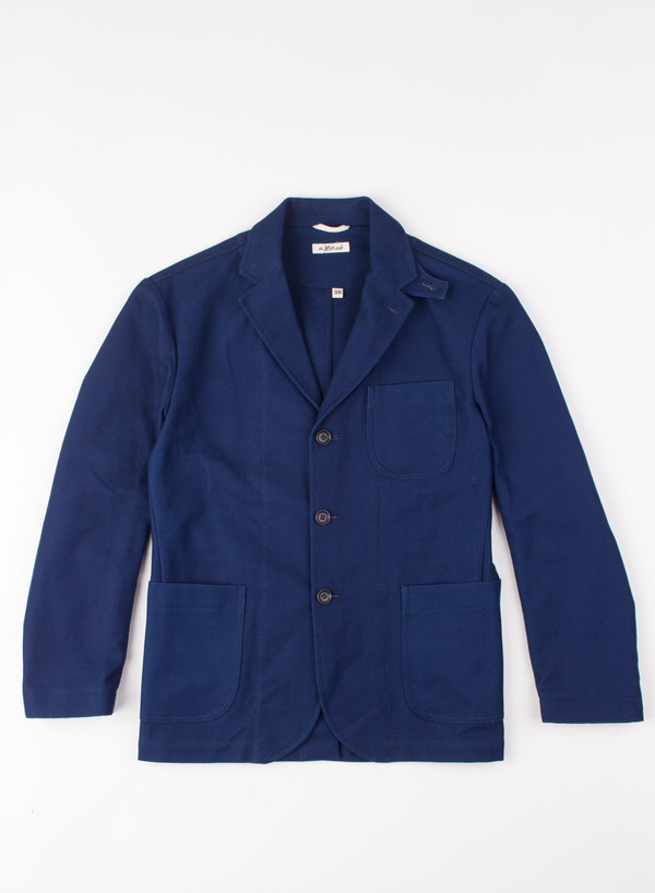 Men's The Hill-Side Tailored Jacket Selvedge Lightweight Indigo Sashiko