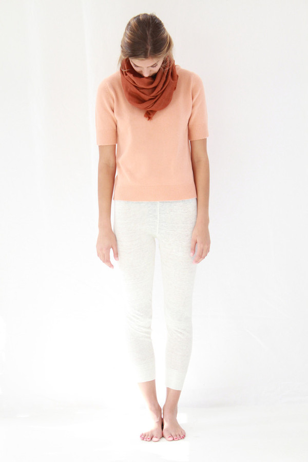 Lina Rennell Linen Knit Sweats White