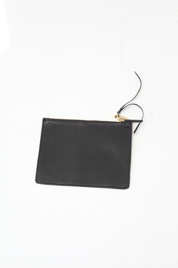 Lizzie Fortunato Palm Zip Pouch Black