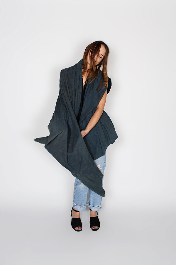 Miranda Bennett Indigo Arashi Raw Silk Textile
