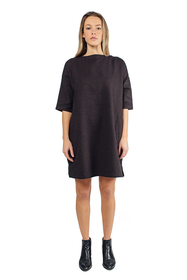 Priory Melli Dress Washed Black Grid