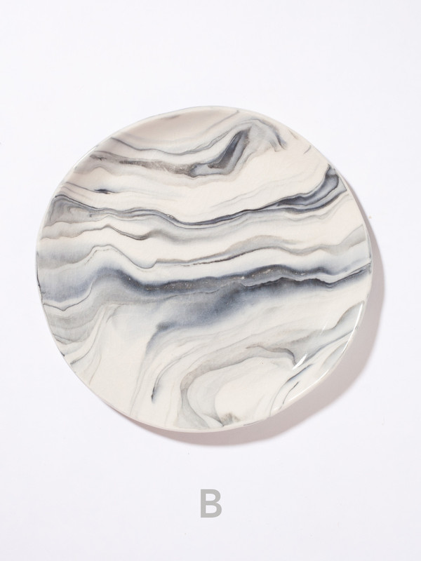 The Pursuits of Happiness Marbled Plate 8""