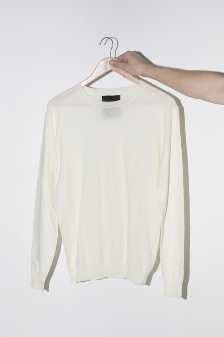 Men's Assembly White Antwerp Cotton Pullover