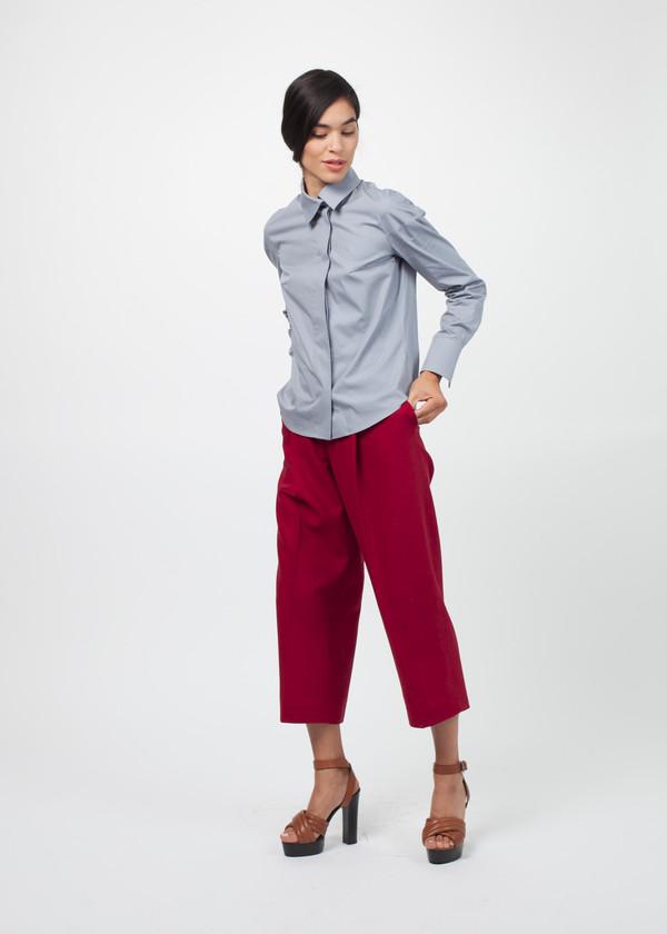 Gianfranco Scotti Asymmetrical Collar Poplin Shirt