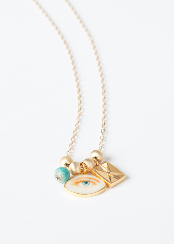 5 Octobre Blue Eye Necklace