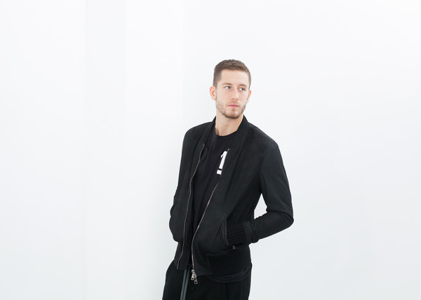 Giorgio Brato Broken Leather Bomber in Black