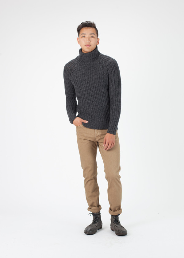 Men's Avant Toi Cable Knit Pullover