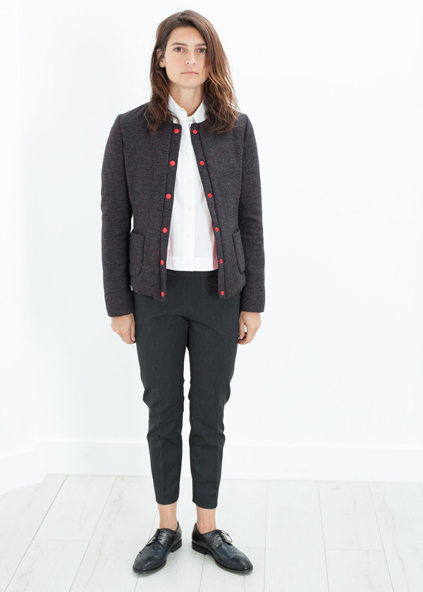 Lardini Camelia Reversible Jacket in Black/Red