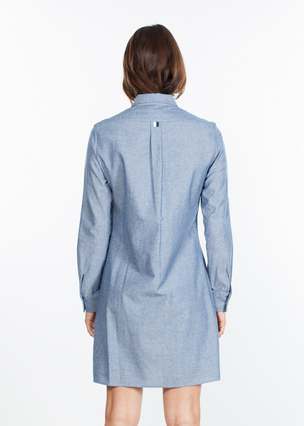 Harvey Faircloth Chambray Shirtdress