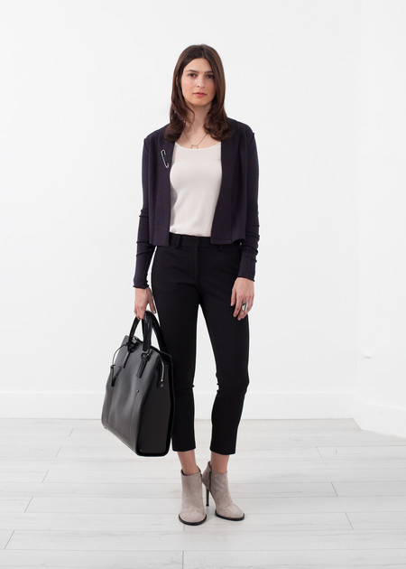 Lars Andersson Cropped Shawl Cardigan