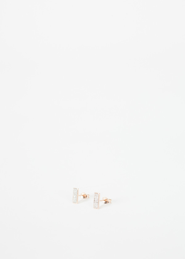 Ginette NY Diamond Baguette Studs