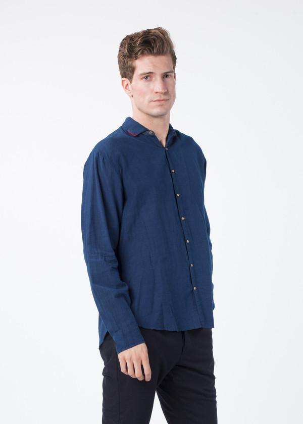 Men's Pero Linen Bib Shirt
