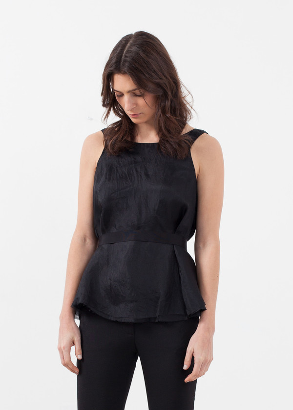 Louiza Babouryan Organza Swing Top