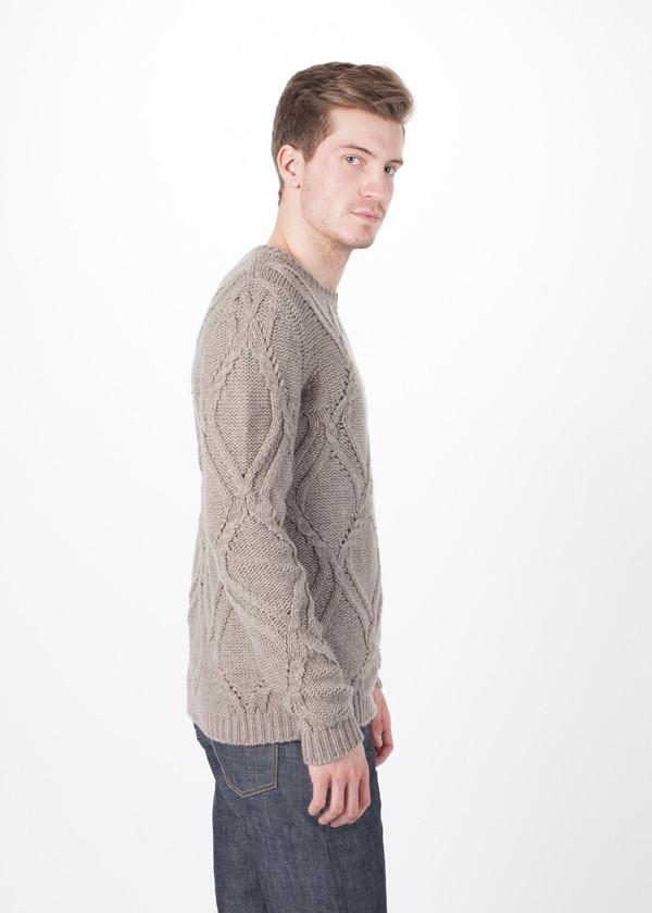 Men's Avant Toi Pattern Knit Pullover