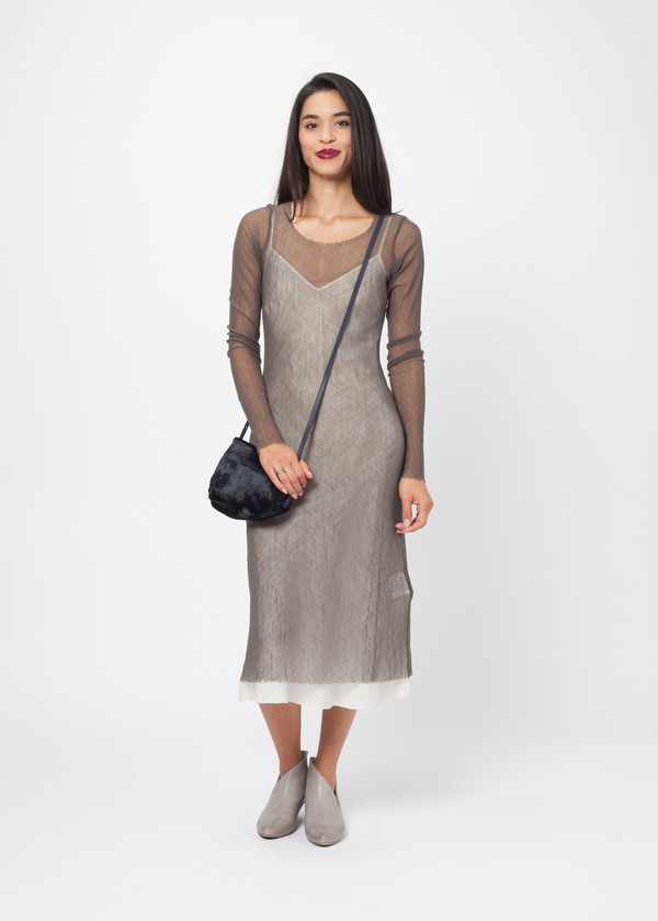 Rundholz Raw Edge Mesh Dress