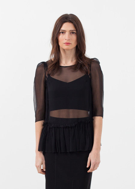 Louiza Babouryan Ruffle Top