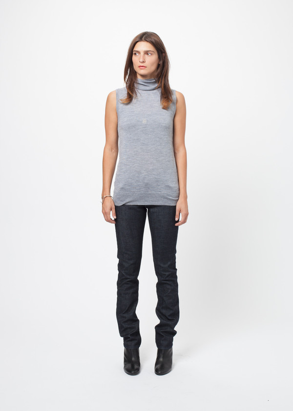 Organic by John Patrick Sleeveless Turtleneck