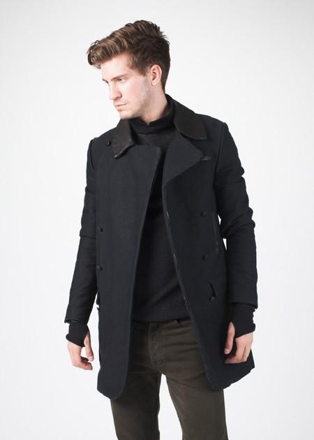 Men's Hannes Roether Taban Coat in Black