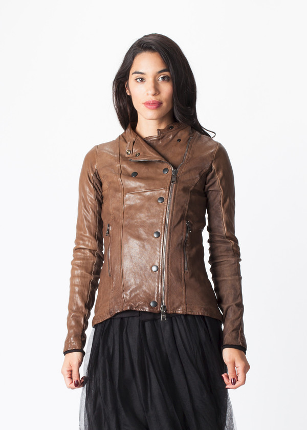 Giorgio Brato Top Snap Leather Jacket